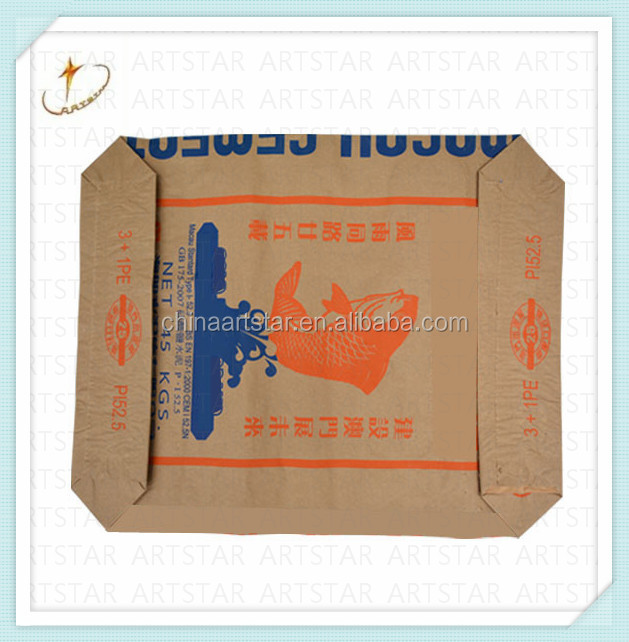 Brand Authorization made kraft paper cement bag