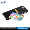 Free sample MOQ=100pcs flip card money slot pu leather phone case for iphone 7 7plus