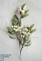 "High Quality Popular Artificial Berry Pick Christmas 24"" Berry Pick With Holly Leaf Ornament for Christmas house Decoration"