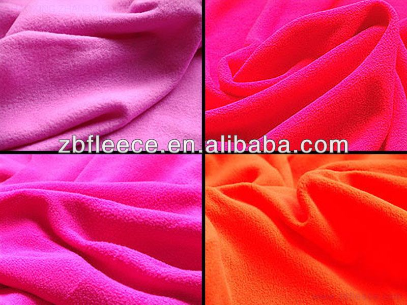 100% polyester two sides brushed printed polar fleece fabric