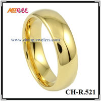 Comfort Fit High Quality Tungsten Gold Plating Engagement Couple Ring