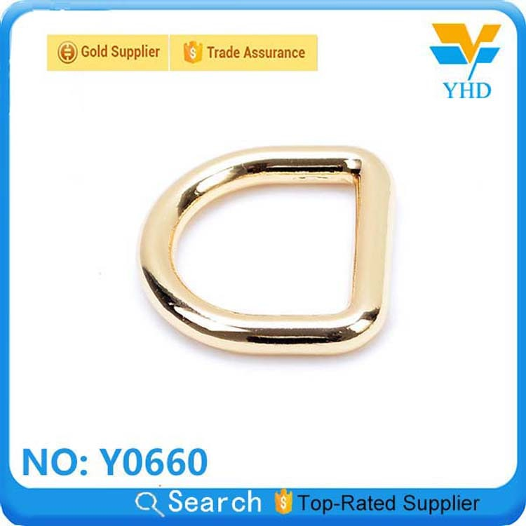 Fashion handbag metal rings for bag fitting