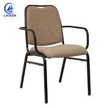 Latest hotel banquet equipment design modern custom color steel chair with armrest