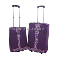 China Luggage Factory Supply Purple Color Cheap 3pcs Eva Trolley Luggage Suitcase Sets