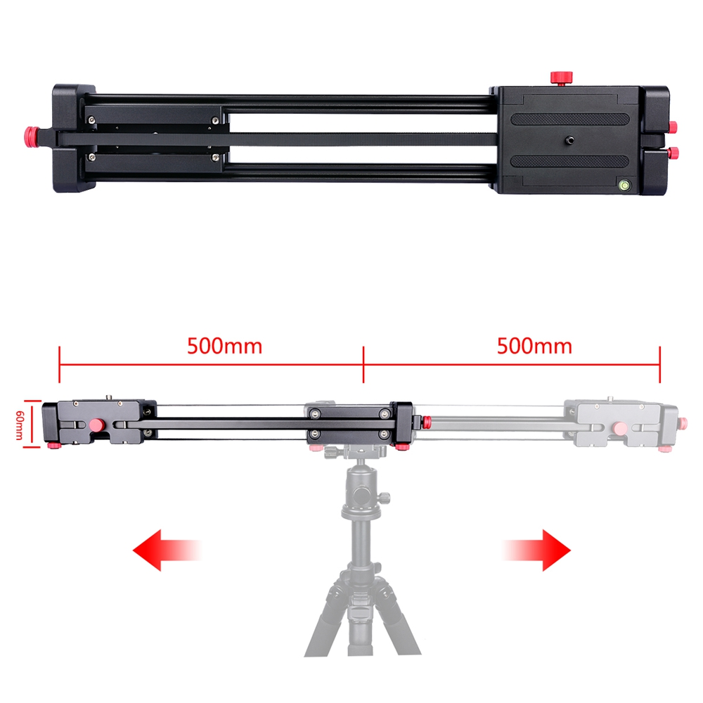 photography aluminium 100cm extended double sliding dolly magic video camera parallax slider