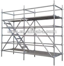 HDG/dip painting metal step ladder scaffolding building construction