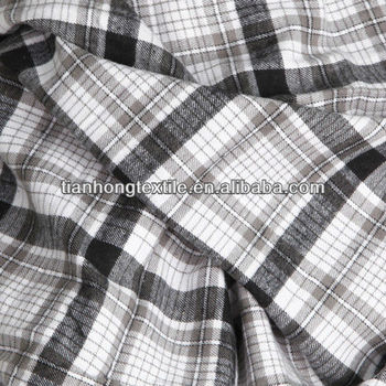 Polyester cotton check stretch flannel fabrics buy for Cotton polyester flannel shirts