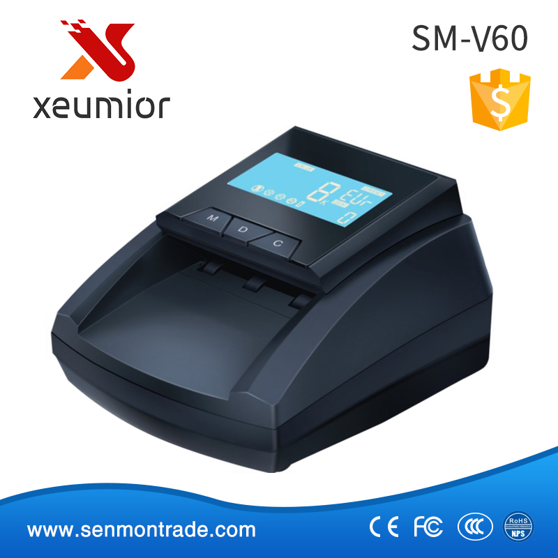 Automatic Detecting with IR Counterfeit Money Detector for EUR/USD HKD GBP CAD JPY SM-V60