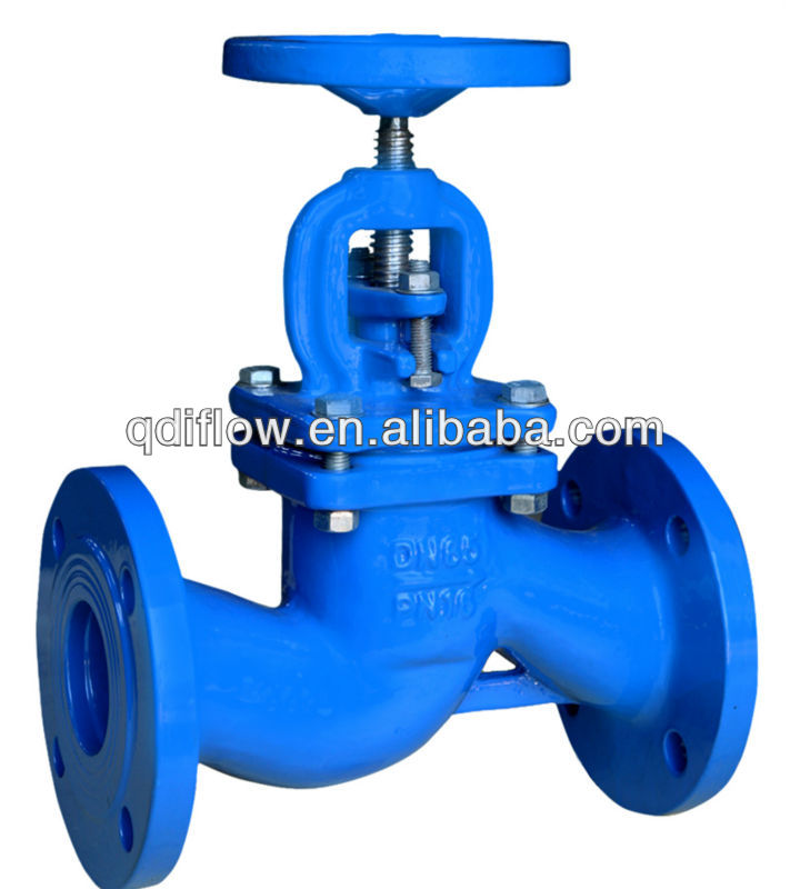 DIN 3356 PN16 CAST IRON BELLOW GLOBE VALVE