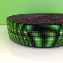 Green high quanlity elastic webbing