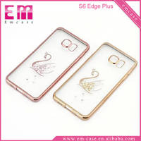 Electroplated Process TPU Case For Samsung Galaxy S6 Edge Plus Phone Rubber Case