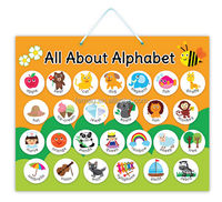 E1003 2017 best sell abc english alphabet magnetic learning educational charts for kids child teacher