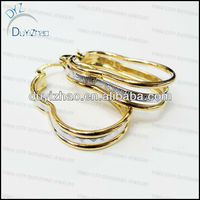 fashion cheap gold large hoop earrings wholesale huggies earrings
