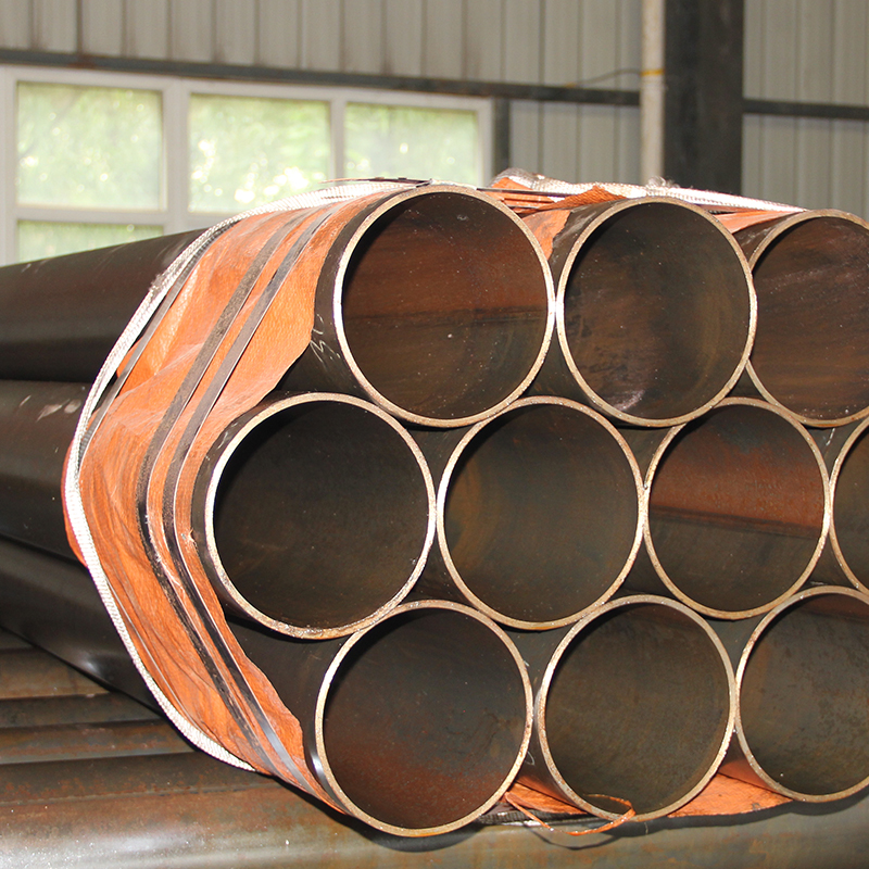 High quality raw materials used for construction----welded round steel pipe