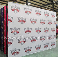 8feet 10feet Trade show booth display Fabric velcro pop up banner stand