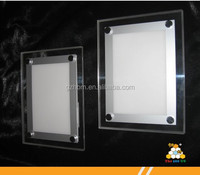 black acrylic LED crystal light frame / advertising light box