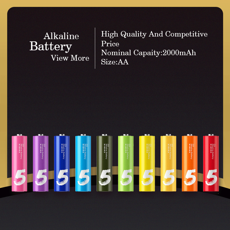 2016 Best Selling Colourful Dry Batteries LR6/LR03 720mAh Batteries Battery Alkaline AAA