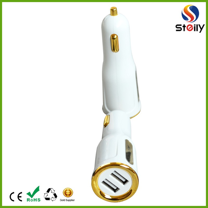 Hot selling QC2.0 USB car charger,Phone car charger,Dual USB car charger