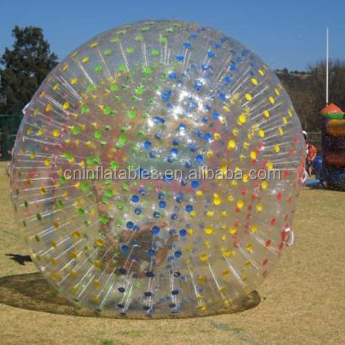 Colorful Dots Mixed Human Sized Hamster Ball Inflatable Large Zorb Ball