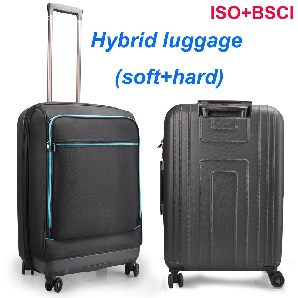 Carry on 20 inch 100% PC and nylon hybrid luggage