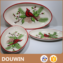 Modern design Chinese types dishes with red print