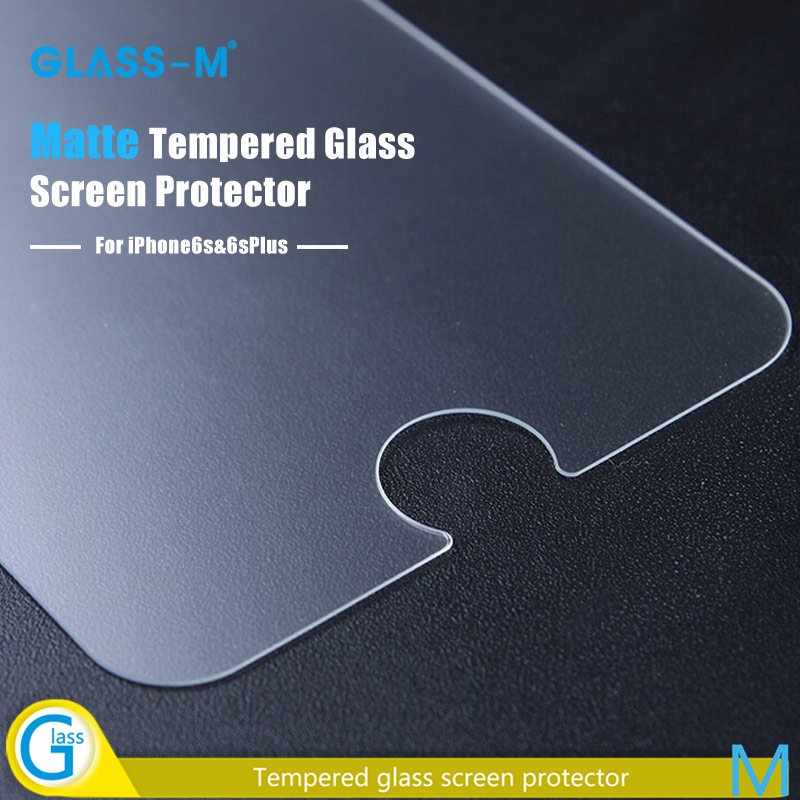 Frosted Tempered Glass Anti Glare Cell Phone Protective Film for iPhone 6s