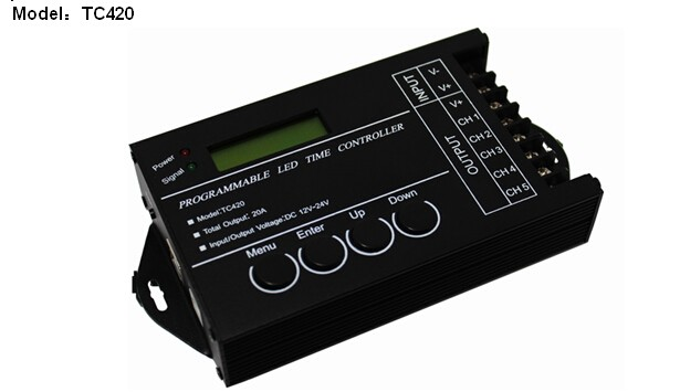 USB port 5 Channel DC12-24V LED Programmable Time controller,LED Controller TC420