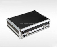 Aluminum Black Metal Padlock Tool Case Repair Tools Case Portable Aluminum Empty Case