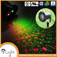Waterproof IP65 christmas laser light garden double green red outdoor Laser Light