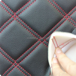High quality car seat microfiber pu leather with sponge backing HX206