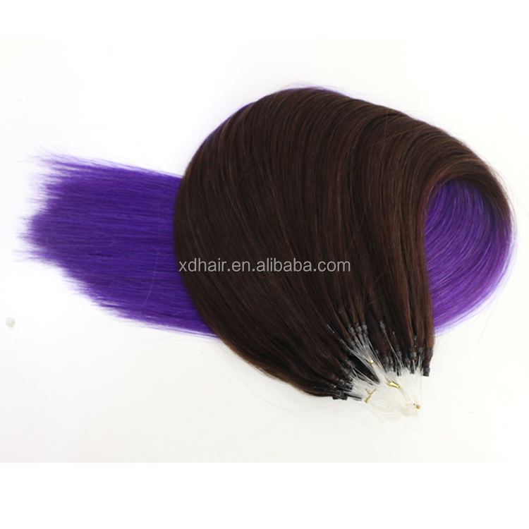 Free Shipping Human Hair Extension brazilian Virgin Hair Silk Straight Unprocessed micro loop ring Virgin Hair