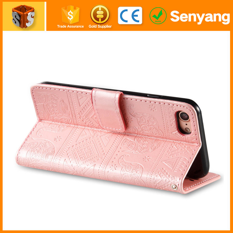phone accessories mobile Dual Window View Flip Wallet Leather Case Cover for iphone 6s plus leather soft case