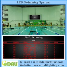 Professional advertising interactive swimming scoreboard