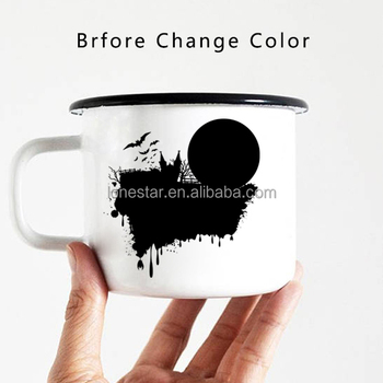 best selling items 11oz Sublimation Enamel Magic Color changing Coffee Mugs