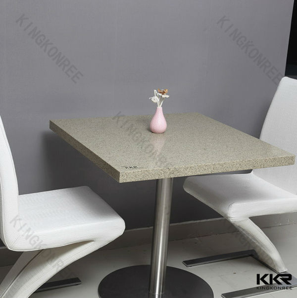 Solid Surface Korean Table Top Quartz Stone Table Top Cafe Table - Round marble cafe table