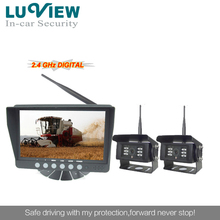 2014 luview 7inch wireless rearview system wireless reversing rearview monitor