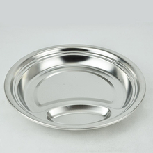 Kitchenware cheap stainless steel dinner plates long life service restaurant metal dinner plates