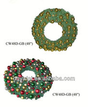 Hot-sale cheap factory price artificial Xmas wreath with decoration