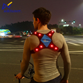 New design high visibility LED reflective running cycling safety sport vest