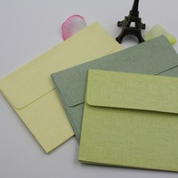 Fresh green tie envelopes rustic and elegant postcard manufacturers manufacture