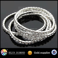 Cupchain rhinestone trimming metal chain banding for sew on jewelry accessories