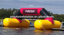 2014 Air-tight inflatable finish line floating on water arch for water sports events