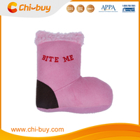 Pink Suede Fabric Squeaky Dog Toy Boot Free Shipping on order 49usd