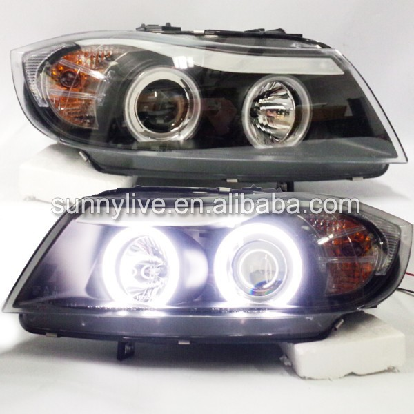 2005- 2010 year For BMW E90 3 Series 320i 323i 325 330 335 LED Headlights CCFL Angel Eyes SN