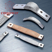 Customized Square Hole Braided Wire Connectors Flexible Copper Braid Connector