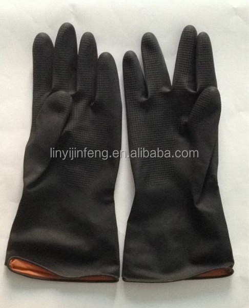 cheap price shandong electrical insulating rubber hand protection gloves