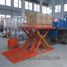 Customized stationary cargo loading hydraulic scissor lifter with different load capacity