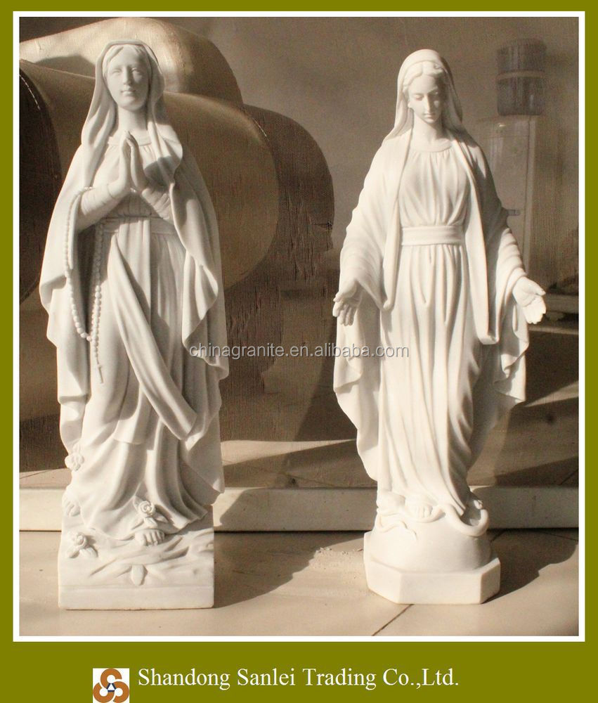 big size stone marble virgin mary statues