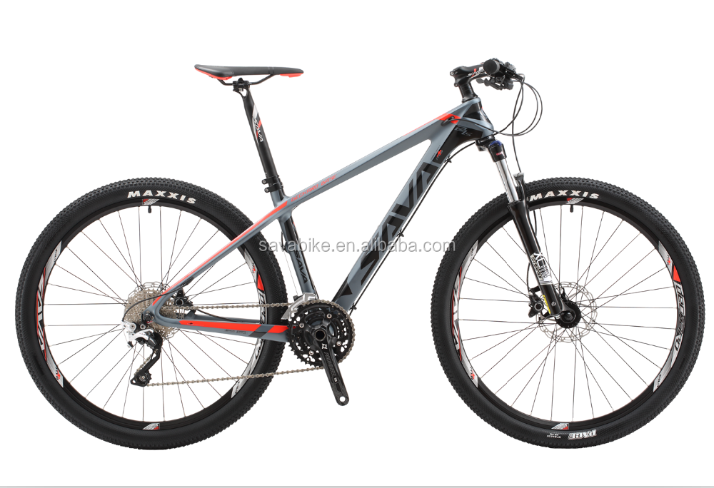 SAVA newest wholesale mountain bicycle 27.5 inch high carbon fiber frame 30 speed racing MTB bike
