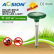 Aosion patent designed solar mouse threaten with LED light fast delivery